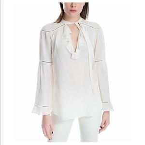 Max Studio Tops - Never worn white blouse with neck tie!
